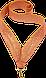 Лента для медали Золотая 22мм., фото 3