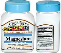21st Century, Магний и Кальций, 250 мг, 110 таблеток