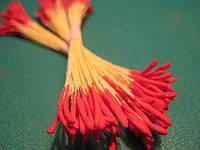 Тычинки для цветов бордовые острые 25шт.(код 00495)