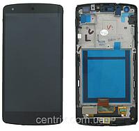 Дисплей (экран) для LG D820 Nexus 5 D821, D822 + тачскрин, черный, с передней панелью