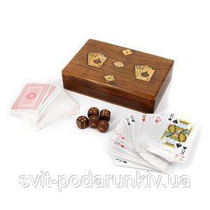 Подарочные игральные карты с кубиками - фото