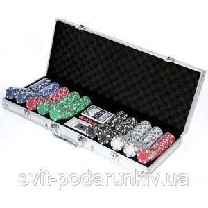 Покерный набор на 500 фишек - фото