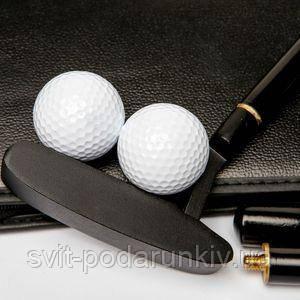 Клюшка и мячики для гольфа - фото
