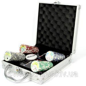 Покерный набор на 100 фишек - фото