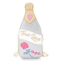 """Серебристая сумка в виде бутылки шампанского """"True love"""", фото 1"""