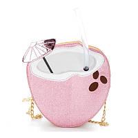 Розовая сумка Кокос, фото 1