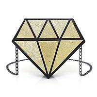 Золотая сумка Кристалл глиттер, фото 1