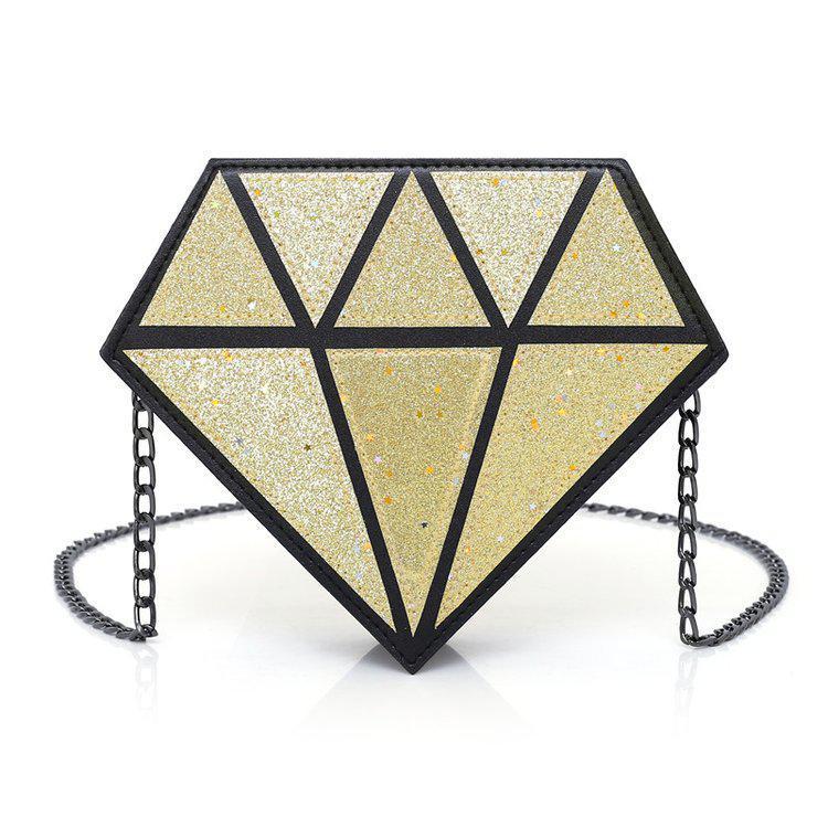 Золотая сумка Кристалл глиттер
