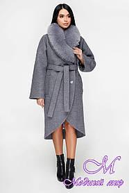 Шикарное зимнее пальто большого размера (р. 44-54) арт. 1089 Тон 2