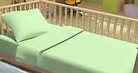 Постельное белье для новорожденный Kidsdream Горошки зеленые.