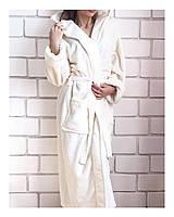 Халат женский длинный махровый с капюшоном. Турция, фото 1