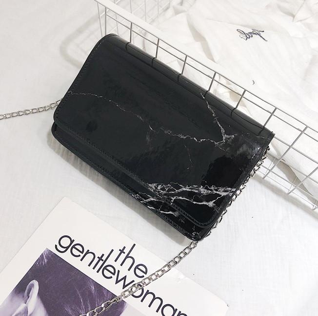 Сумка через плечо мрамор черный