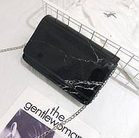 Сумка через плечо мрамор черный, фото 1