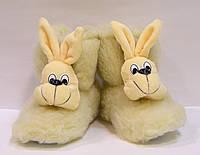 Комнатные детские сапожки Зайчик из овчины, фото 1
