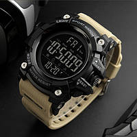 • Гарантия! SKMEI (СКМЕЙ) 1384 Khaki  Оригинальные спортивные мужские часы