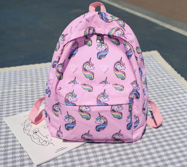 Рюкзак с единорогами розовый