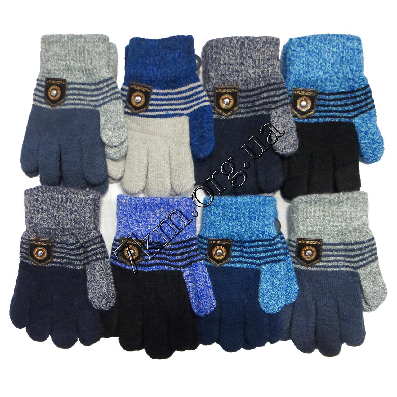 Перчатки двойные для мальчиков 5-7 лет Корона Оптом 5009 S