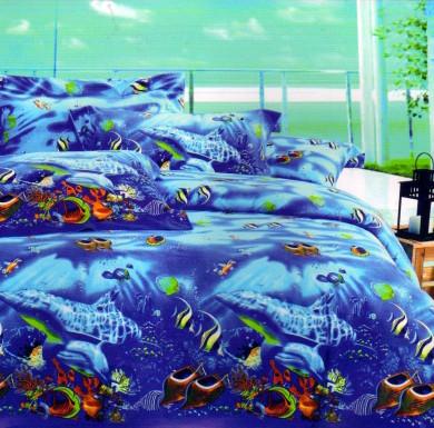 Двуспальный комплект постельного белья «Подводный мир»