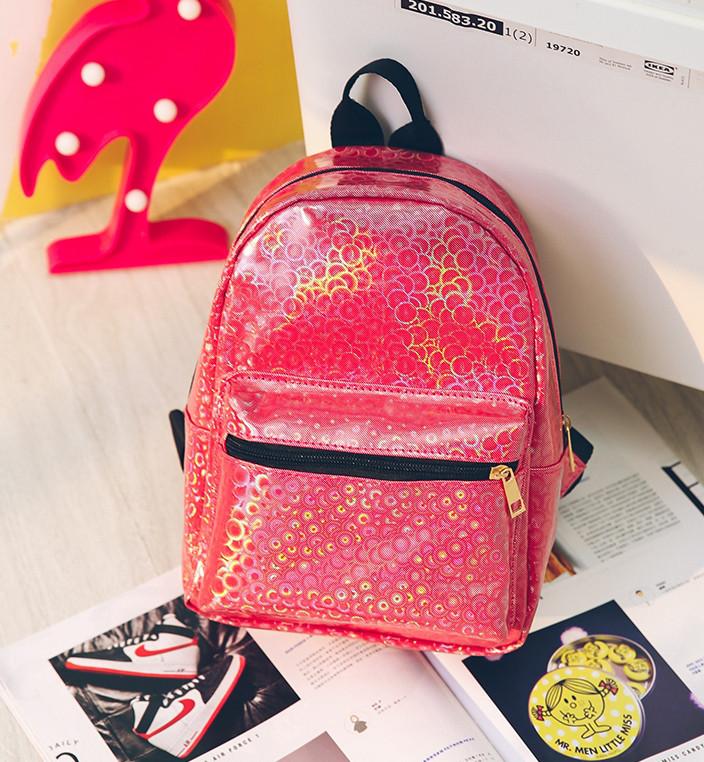 57f9b6aaaaeb Маленький Рюкзак с Блестками Красный — в Категории
