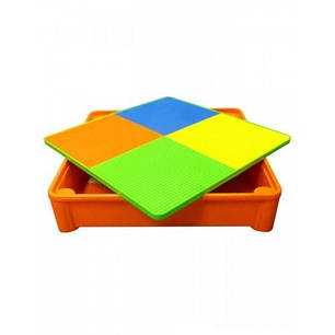 Комплект детской мебели стол 2в1 и 2 стульчика Tega Mamut, подходит для Lego, фото 2