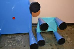 Комплект детской мебели стол 2в1 и 2 стульчика Tega Mamut, подходит для Lego, фото 3