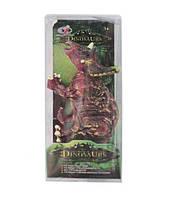 """Игрушка """"Динозавр"""" коричневый с рогами R332"""