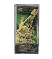 """Игрушка """"Динозавр"""" белый с зелёными шипами R332"""