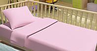 Постельное белье для новорожденный Kidsdream Горошки розовый.