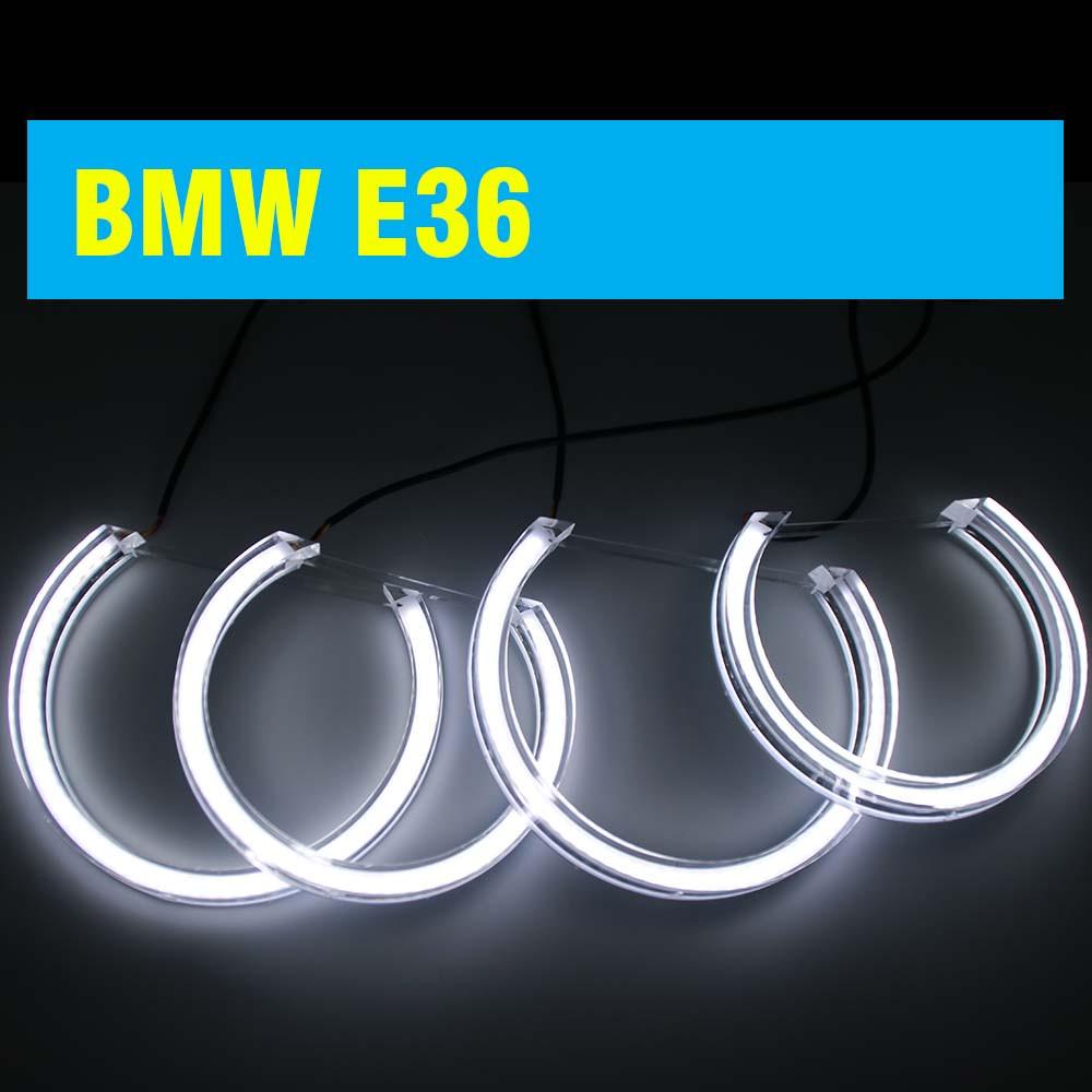 Ангельские глазки crystal (4*131 мм) LED для BMW E36 белый