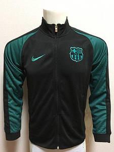 Футбольная олимпийка Барселона черно-зеленная