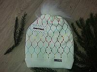 Зимняя шапка на флисе для девочек пр-ль Польша(размер50-54), фото 1