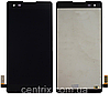 Дисплей (экран) для LG K200 X Style Dual Sim + тачскрин, черный, оригинал