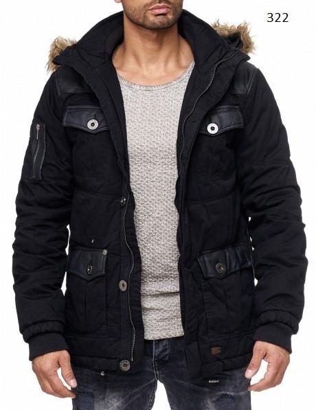 Зимняя куртка мужская Jeel синего цвета