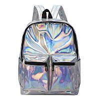 Голограммный рюкзак серебро, фото 1