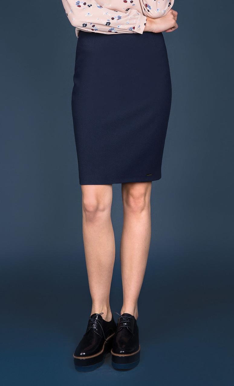 Женская юбка-карандаш темно-синего цвета. Модель Dawrina Zaps. Коллекция осень-зима
