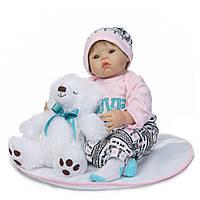 Кукла реборн Саша, мягконабивная 50 см, ручная работа Reborn doll