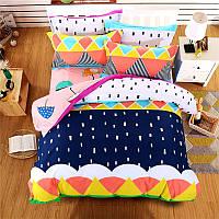 Комплект постельного белья Зонтики (двуспальный-евро)