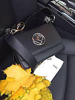 Модная сумочка FENDI  Kan I черная (реплика), фото 1