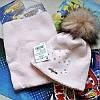 Зимний комлект (шапка и хомут) для девочки Agbo (Польша).
