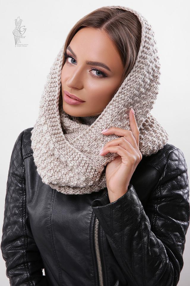 Цвет какао Вязаного шарфа Снуд Корни