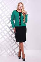 Donna-M Платье с декором из пайеток АМИРА бирюзовое , фото 1