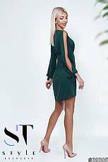 Приголомшливе плаття оригінальністю крою з глибоким декольте бутилка розмір 42-44 44-46, фото 2