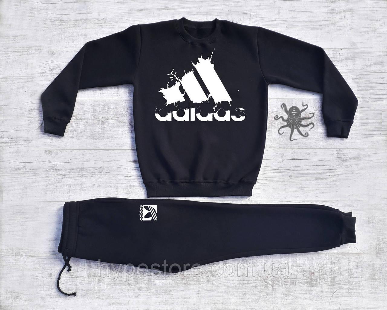 Мужской спортивный костюм на флисе Adidas, Реплика