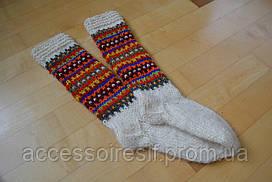 Шерстяные вязаные носки гольфы