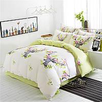 Комплект постельного белья Цветочный Олень (полуторный)