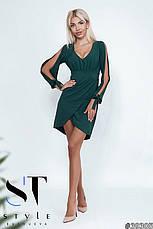 Приголомшливе плаття оригінальністю крою з глибоким декольте марсала розмір 42-44 44-46, фото 2