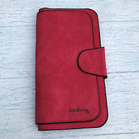 Женский кошелек Baellerry Forever (Балери) замш красный