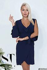 Приголомшливе плаття оригінальністю крою з глибоким декольте Попелясто-лавандовий розмір 42-44 44-46, фото 2