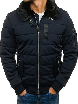 Мужская зимняя куртка NATURE синего цвета топ реплика, фото 2