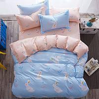 Комплект постельного белья Кролики (двуспальный-евро)